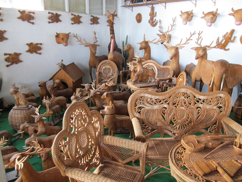Wicker menagerie in Camacha, Madeira